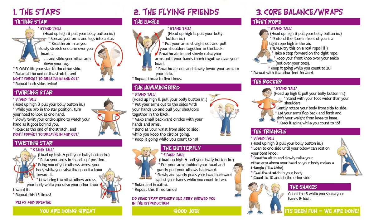 following is the daily exercise program why not have some fun with your kids and join in - Exercise Pictures For Kids